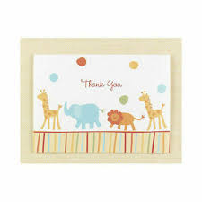 Jungle Animals Thank You Cards