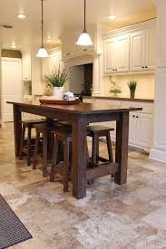Farmhouse Bar/Island Table with Barstools by Keeriah on Etsy, $4650.00