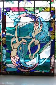 Mermaid Stained Glass Pattern Interesting Decorating