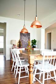 pendant lights over dining table copper pendants we wanted lights over the table pendant light height