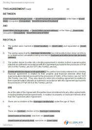 Superannuation Agreement Superannuation Payment Splitting