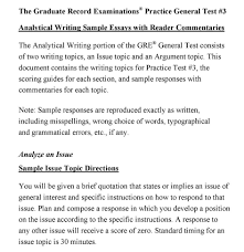 Analytical Response Essay Gre Analytical Writing Essay Template Appraisal