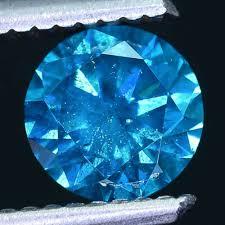 0 0289 Cts Certified Dark Turquoise Blue Round Cut Diamond