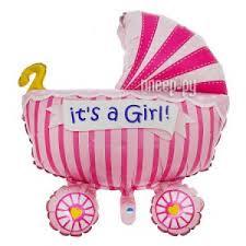 Купить <b>Шар фольгированный</b> Flexmetal Коляска детская Pink ...
