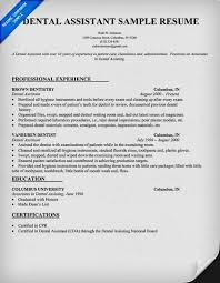 Ideas Collection Dental Assistant Resumes Template Cute Dental