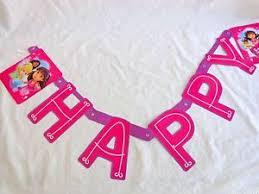Purple Happy Birthday Banner Dora The Explorer And Friends Happy Birthday Banner Purple 7 59 Ft