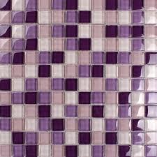 purple glass mosaic tiles backsplash kitchen bathroom wall and floor crystal glass tile flooring shower designs