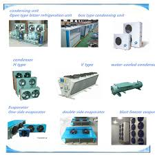 types of refrigeration compressors. open type piston screw compressors cold storage refrigeration condensing units types of s
