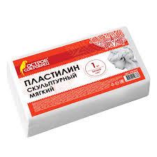 Купить <b>Пластилин скульптурный ОСТРОВ СОКРОВИЩ</b>, белый, 1 ...