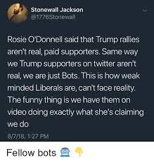 Stonewall Jackson Quotes Fascinating Stonewall Jackson Rosie O'Donnell Said That Trump Rallies Aren't
