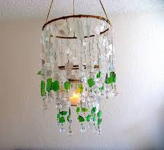 unique diy broken wine glass chandelier design with creative decoration
