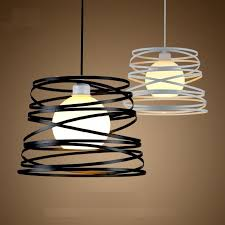 phezen simple iron spiral pendant lamp