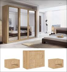 Oak Effect Bedroom Furniture Sets Bedroom Set Shetland Oak Mirrored Wardrobe Chest 2 Bedside