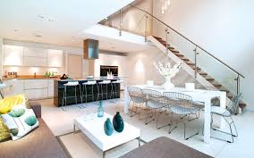 Modern Kitchen Living Room Exquisite House In London With Double Volume Space By Lli Design