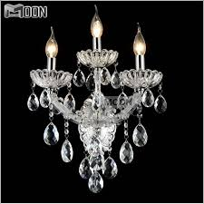 modern clear crystal wall light 3 arms wall bracket lights fixture wall sconces lighting for bathroom cheap sconce lighting