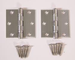 entry door handlesets. Modern-silver-hinges Entry Door Handlesets