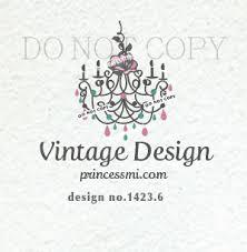 1423 6 Chandelier logo boutique logo vintage design vintage furniture logo wedding photography modern vintage elegant design