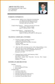 Simple Resume Sample 100 applicant resume sample filipino legal resumed 43
