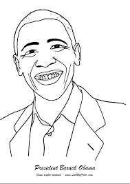 Small Picture Obama Coloring Page Pages Gallery Naruto adult