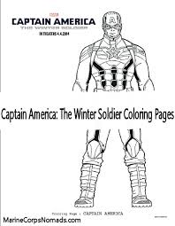 Captain America The Winter Soldier Coloring Pages Marine Corps Nomads