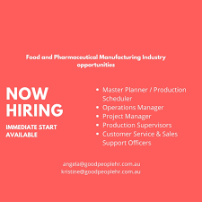 New Roles Production Planner Scheduler Operations Manager