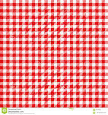 Checkered Design Red And White Checked Tablecloth Pattern Checkered Picnic Stock