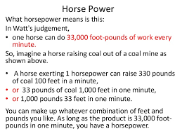 how horsepower works si units and horse power