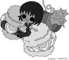 可愛い女の子とかぼちゃのシュークリームのイラスト素材 29480740 Pixta