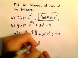 Basic Derivative Rules The Shortcut Using The Power Rule Youtube