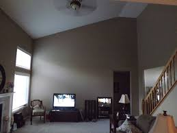 large wall with a slanted ceiling