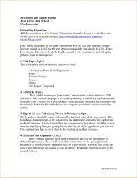 Report Apa Experimental Sample Paperth Lab Format Examples Table
