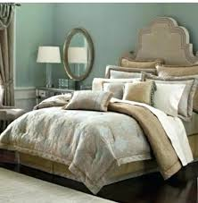 croscill bedspread opal comforter set queen blue reversible new king bedding