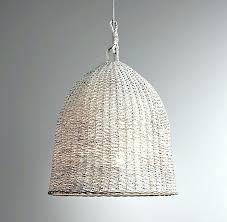 wicker pendant light. Rattan Pendant Light Wicker Flora Pottery Barn Modern Regarding . E