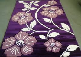 purple fl area rugs