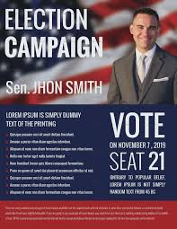 Election Campaign Flyer Political Free Template And Fly On Sample