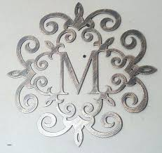 scroll wall art metal scroll wall art family initial monogram inside a metal scroll with any letter wall decor wall scroll art plastic scroll wall art