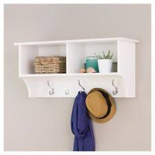 Entryway Shelf And Coat Rack Wide Hanging Entryway Shelf White 100 Prepac eBay 62