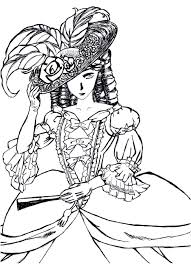 Small Picture Victorian woman fashion dress hard coloring pages for grown ups