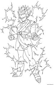 Coloriage Dragon Ball Z Sangoku Super Sayen 5 Dessin