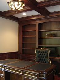 custom made home office. Custom Made Mahogany Home Office With Wainscoting And Beam Ceiling A
