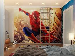 bedroom furniture excellent cool room designs for guys with spiderman wallpaper themes and wider rug area bedroom furniture guys design