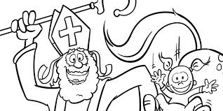 Amerigo Als Glijbaan Sinterklaaskleurplaat Yaroons Cartoons