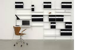 string shelving system as work space