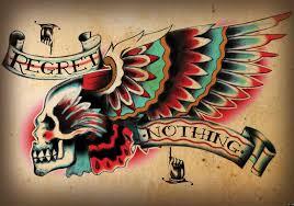 Fototapeta Lebka S Křídly Tetování
