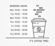 Opening Hours Template Stock Illustrations 65 Opening Hours