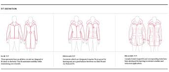 Size Chart For Canada Goose Outerwear