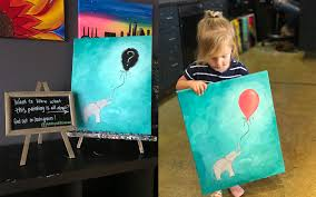 gender reveal painting