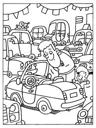 Kleurplaat Papa Kijkt Naar Een Nieuwe Auto Showroom Kleurplatennl