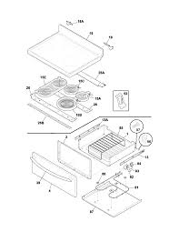 Plef398ccc electric range top drawer parts diagram door parts diagram