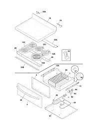 plef398ccc electric range top drawer parts diagram